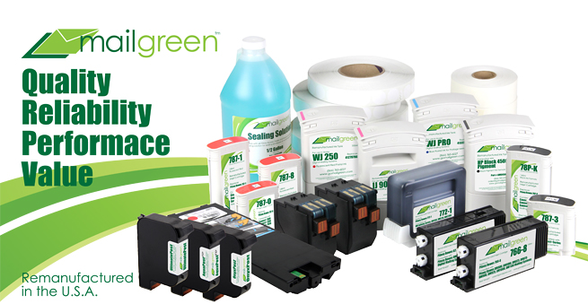 Mail Green | The most trusted name in OEM replacement ink for mailers